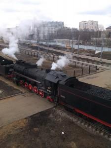 Паровозы на станции Красный Балтиец